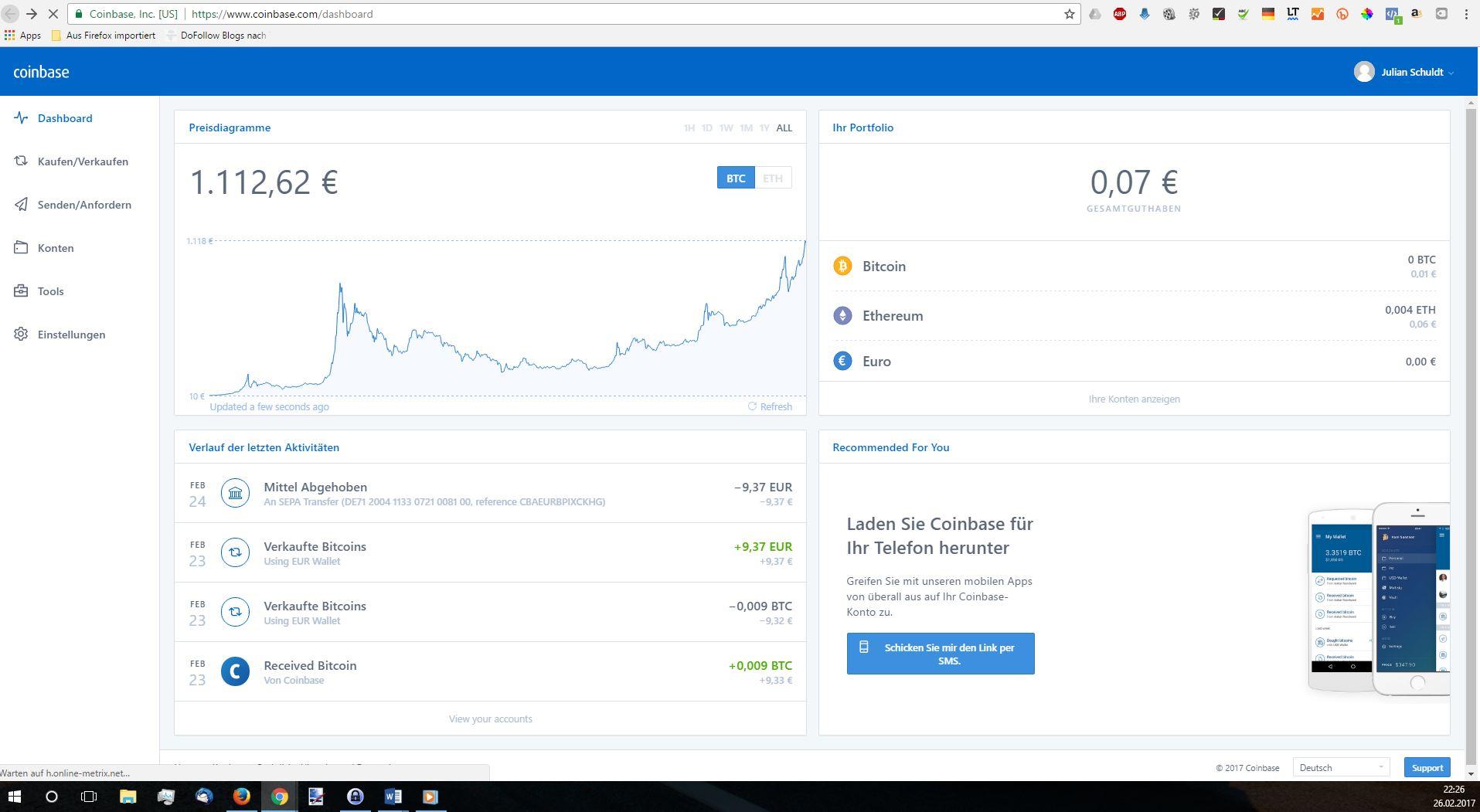 Wie lange dauert es, um kostenlos Bitcoin auf Coinbase zu erhalten?