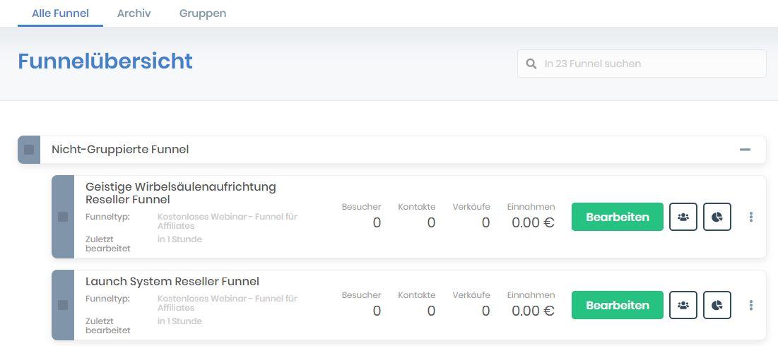 EZFunnels Funnel import