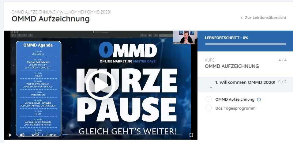 OMMD Aufzeichnung 2020 Sven Hansen Tommy Seewald Ralf Schmitz Dawid Przybyslki