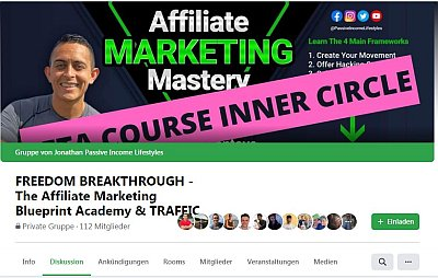 Facebook Gruppe FREEDOM BREAKTHROUGH - The Affiliate Marketing Blueprint Academy