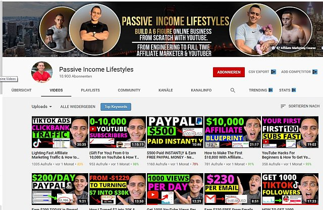 Youtube Kanal Jpnathan Montoya Passive Income Lifestyles